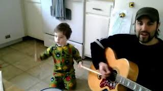 Jon Lewis & Zander sing We Are The Dinosaurs by Laurie Berkner