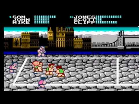 Super Dodge Ball (NES, 1989, USA) Demo