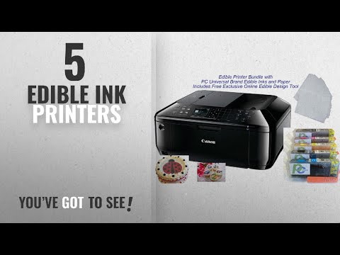 Top 10 Edible Ink Printers [2018]: Edible Printer Bundle- Brand New Canon All-in-One Printer with