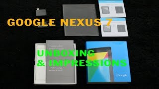 google nexus 7 unboxing first impressions