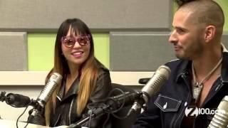 DNCE en una entrevista con Shelley Rome para la radio Z100