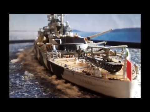 Regia Nave Roma 1/700 Kit Trumpeter - YouTube