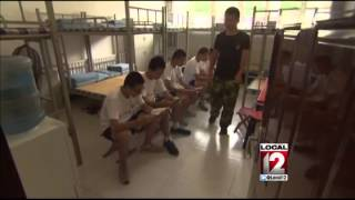 Boot camp in China to kick internet addiction