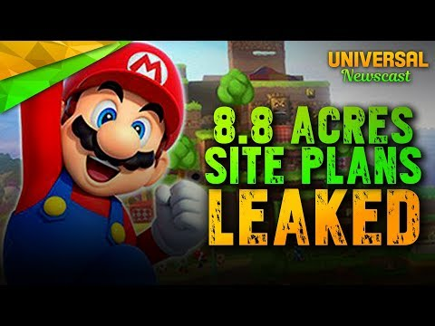 Super Nintendo Worlds 8.8 Acre Leaked Permits Plans - Universal Studios News 11/29/2017