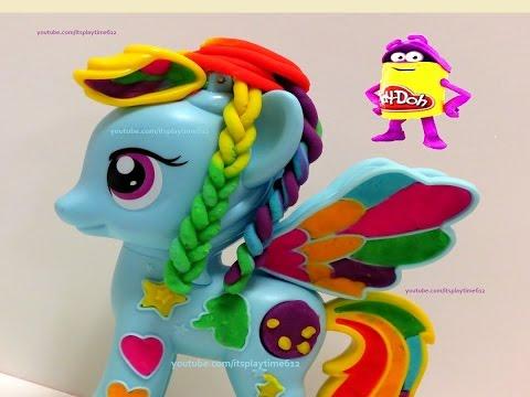 Play-Doh Rainbow Dash My Little Pony Style Salon Playset - Itsplaytime612