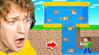 JELLY STOLE My FISH In Minecraft! (New Cow Town)