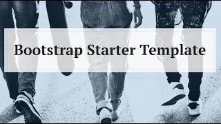 Bootstrap Starter Template - Free HTML Website Templates thumbnail