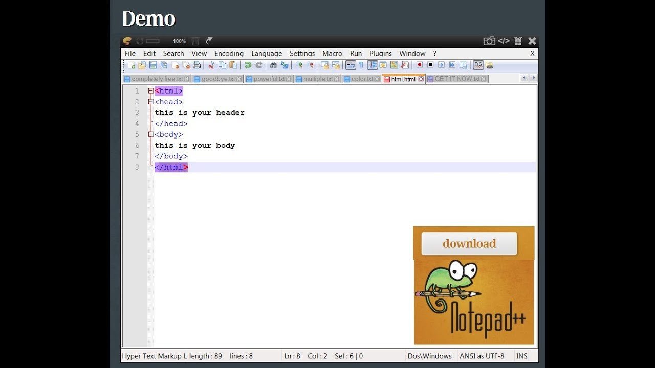 the best Free Html Editor and Windows Notepad replacement