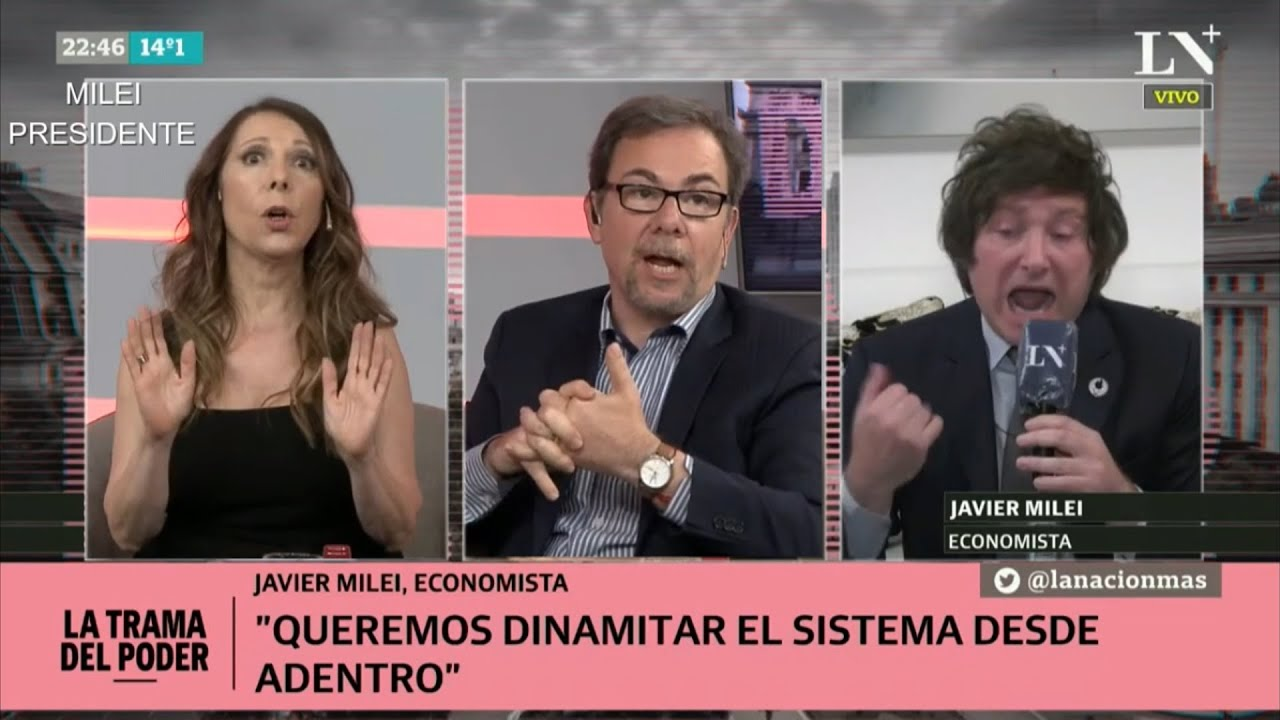"""""""Macri y Cristina, los 2 son zurdos repugnantes"""" Javier Milei en LN+- 29/10/20"""