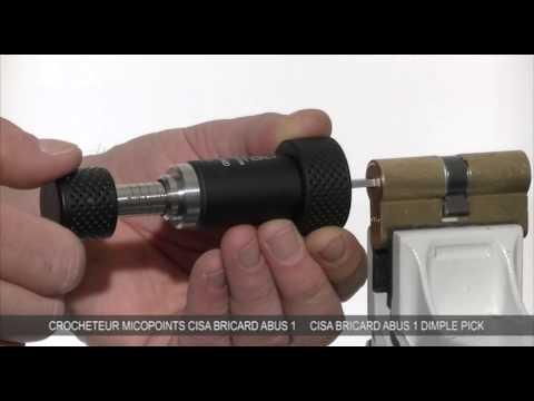 Взлом отмычками CISA Asix  Lock Picking tool for Cisa Bricard Abus-lockpicking Cisa Asix
