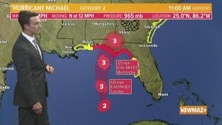 Tracking Hurricane Michael: Midday update (10/9)