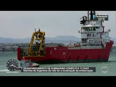 Marinha argentina diz não ter localização do submarino desaparecido | SBT Brasil (27/11/17)