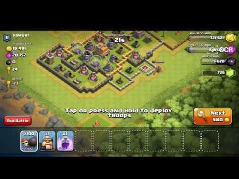 Clash Of Clans 100 wall breaks raid