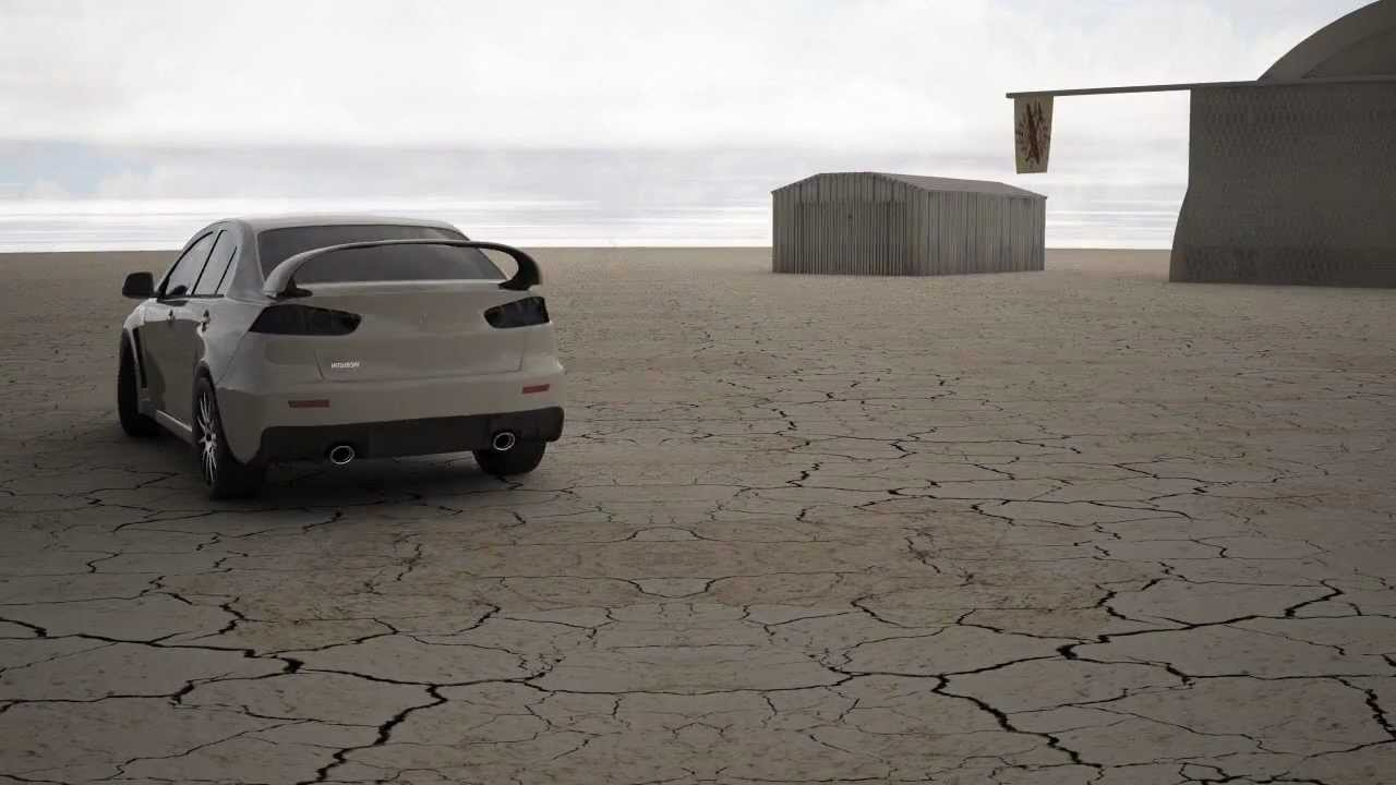 Mitsubishi Lancer Evolution X Cinema 4D Car Animation