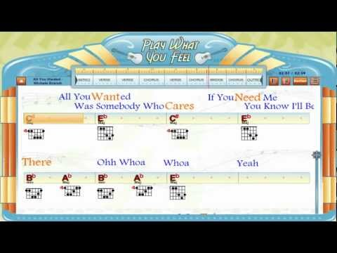 All You Wanted - Michelle Branch - Chords & Lyrics, Lesson, Guitaraoke - playwhatyoufeel.com