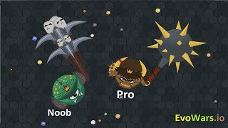 EvoWars.io Evolutions Unlocked 23/23 - Pro vs Noob
