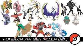 Pokemon 7th Gen / Alola Dex