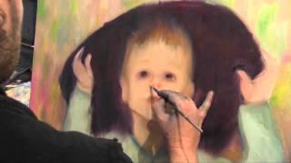 Портрет ребенка, уроки рисования, масляная живопись, школа рисования в Москве, Сахаров