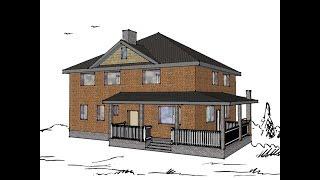Проект дома Турин (южный фасад, двухэтажный дом). Часть 1(Проект дома своими руками. Как сделать проект большого дома на небольшом участке. Проектирования дома..., 2015-12-06T08:04:49.000Z)