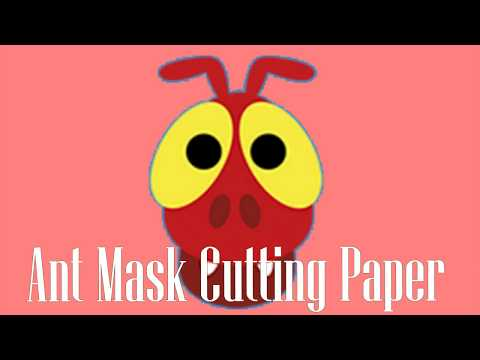Cut Paper Ant - Ant Mask Cutting Paper - paste and assemble very interesting