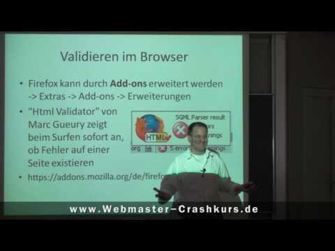 Validieren Von HTML Im Browser