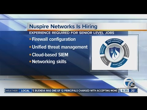 Nuspire Networks is hiring engineers and tech specialists in Commerce Township