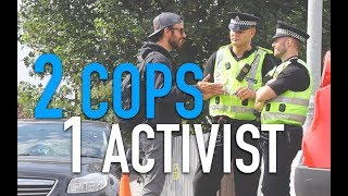 Cops Go Vegan Outside Slaughterhouse