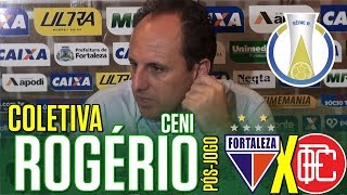 [Série B '18] Coletiva Rogério Ceni   Pós-jogo Fortaleza EC 1 X 2 Oeste FC   TV ARTILHEIRO