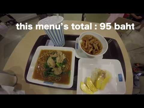 How many menus can I eat for 100 baht (3 USD) in Bangkok [day1]