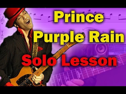 How to play 'Purple Rain' by Prince Guitar Solo Lesson w/tabs