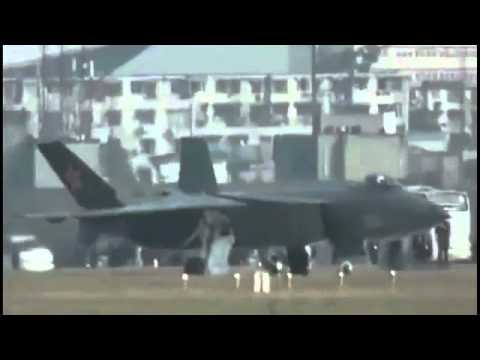 Chinese Chengdu J-20 Stealth Fighter Jet First Flight