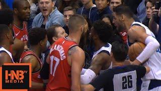 Serge Ibaka & Salah Mejri Scuffle / Raptors vs Mavericks