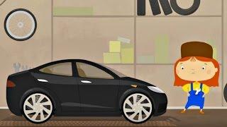 Arzt McWheelie - Ein Elektro-Auto für Kinder. Ein Baby Cartoon