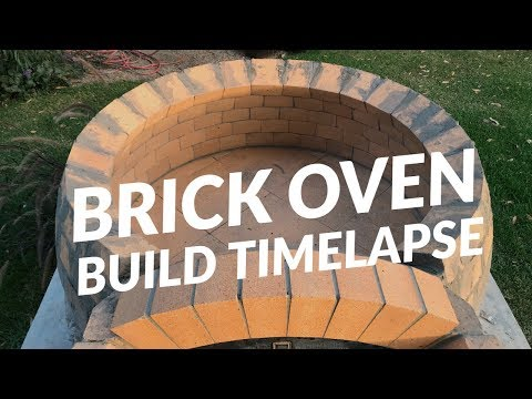 Peter's first brick Pizza Oven build