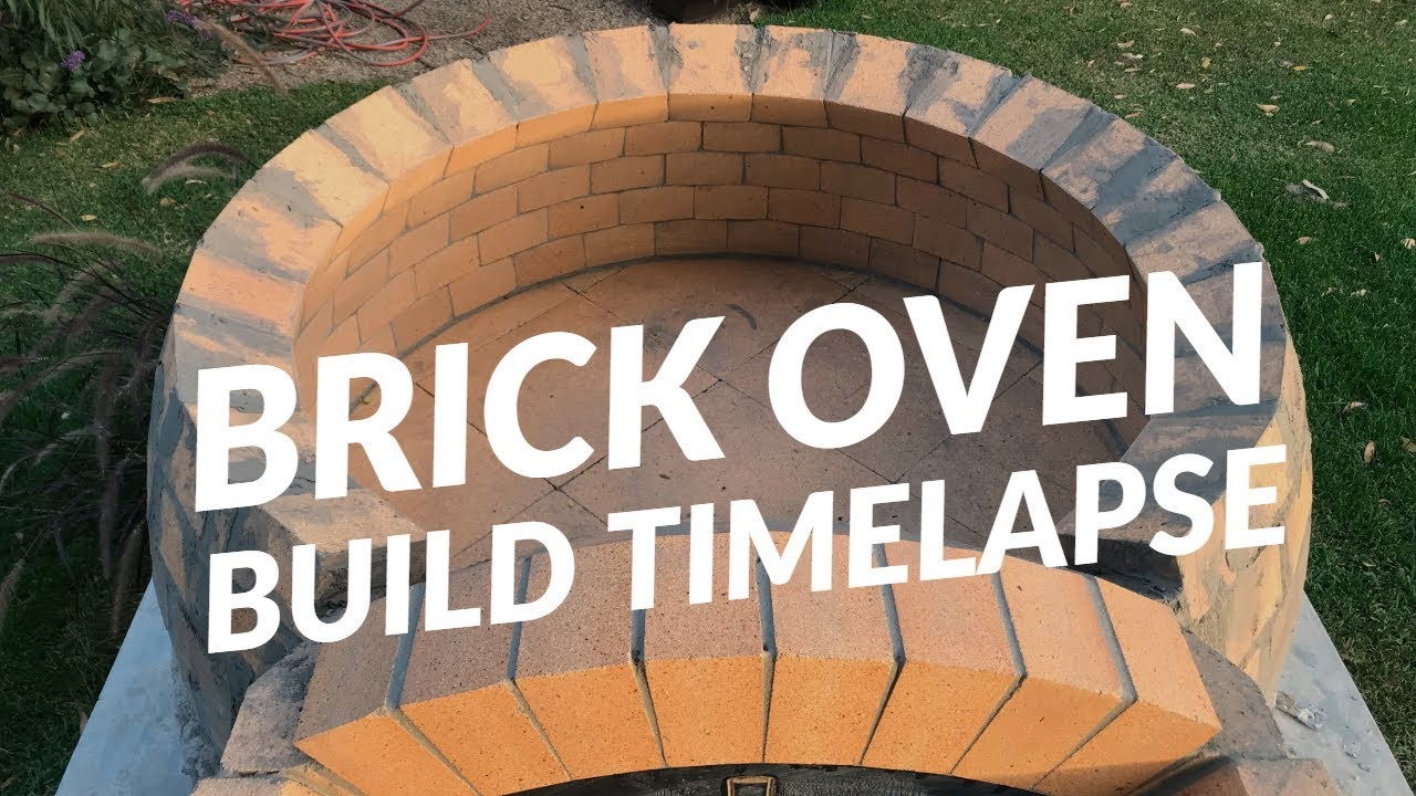 Peter S First Brick Pizza Oven Build Youtube