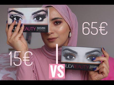 HUDA BEAUTY | Rose gold palatte ✨ Fake VS Vrai | هدى بيوتي الحقيقة ضد النسخة ؟ هل يوجد فرق ؟!