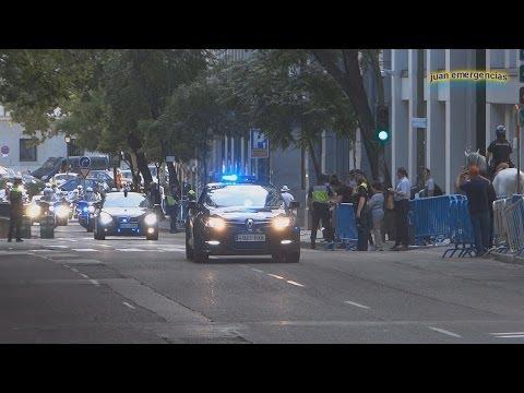 Escoltas acto de abdicación Rey Juan Carlos.Motorcades abdication King of spain