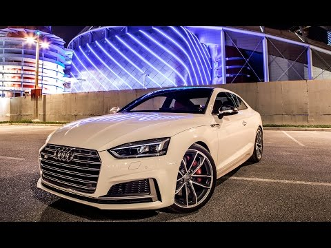 2018 new AUDI S5 COUPÉ (354hp, V6 Turbo) in great locations - revs, launches, exterior, interior etc