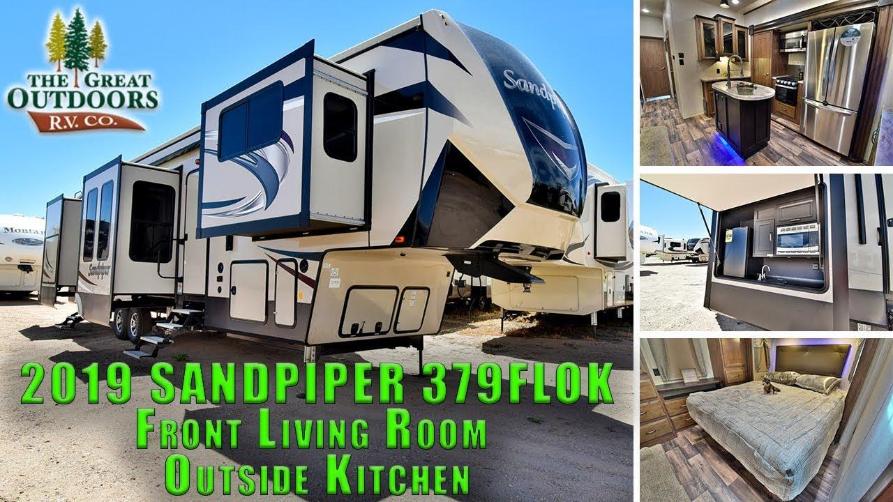 Forest River Sandpiper Flok Front Living Room Outside Kitchen Colorado Rv Sales Dealer