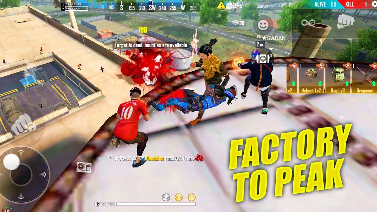 Factory To Peak Booyah Journey | OP Headshots Gameplay - Garena Free Fire | P.K. GAMERS