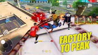 Factory To Peak Booyah Journey  OP Headshots Gameplay - Garena Free Fire  P.K. GAMERS