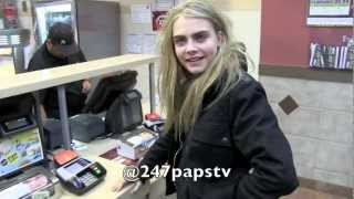 Cara Delevingne enjoying a nice Midnight run to McDonalds in NYC