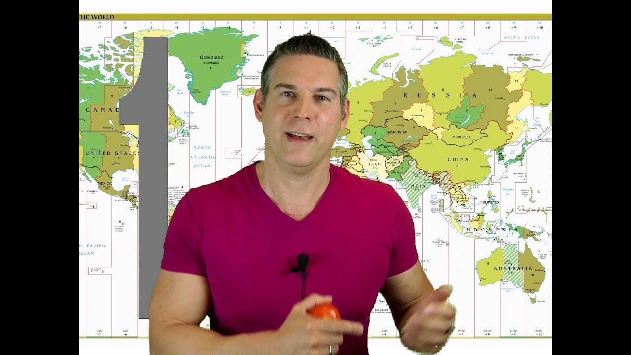 Zeitzonen in 99 Sekunden - YouTube