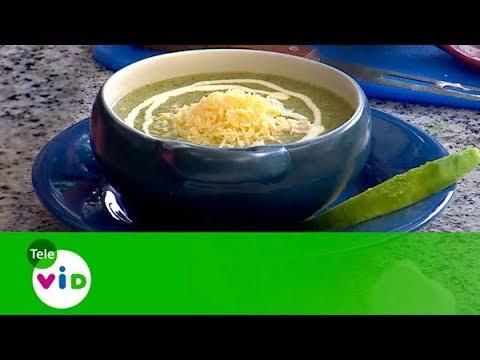 Sopa De Brocoli con Baguette de Pan, Sabores - Tele VID