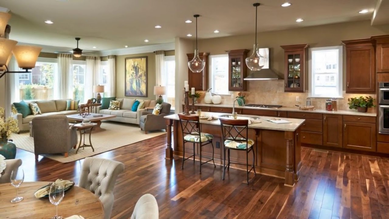 Small Open Concept Kitchen And Living Room India Designs Youtube