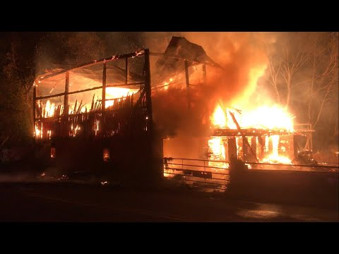 Walnuttown Fire Co 3RD Alarm Working Barn Fire With Collapse 9/2/17