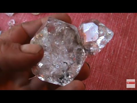 Beautiful Herkimer Diamond Druze Pocket Clean Up