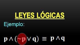 LEYES LÓGICAS - ÁLGEBRA PROPOSICIONAL - PARTE 2 - PROPOSICIONES LÓGICAS