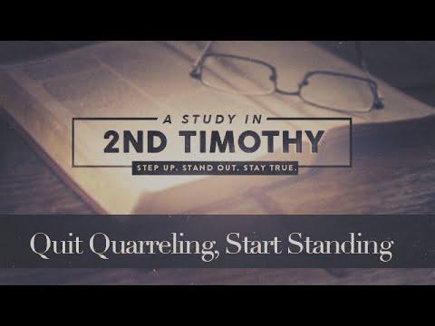 Quit Quarreling, Start Standing