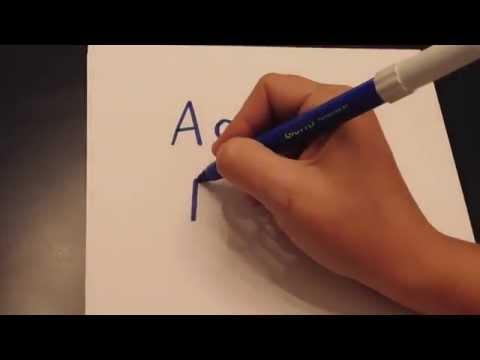 Modern Greek: The Alphabet (hand-written)